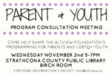 Parent & Youth Program Consultation Meeting
